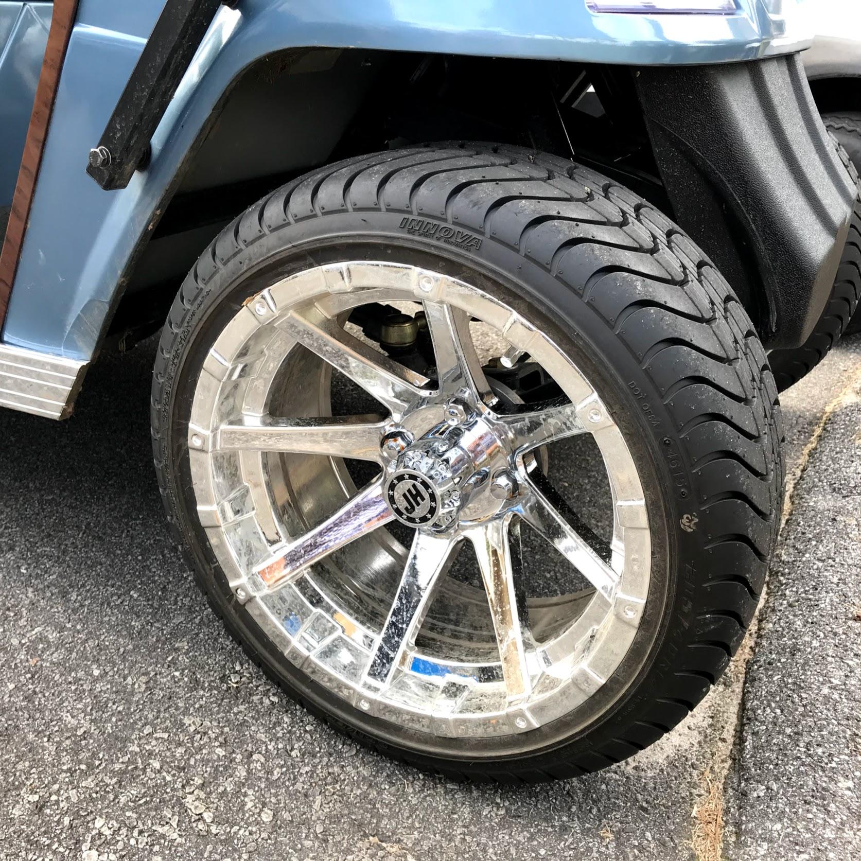 custom golf cart wheels