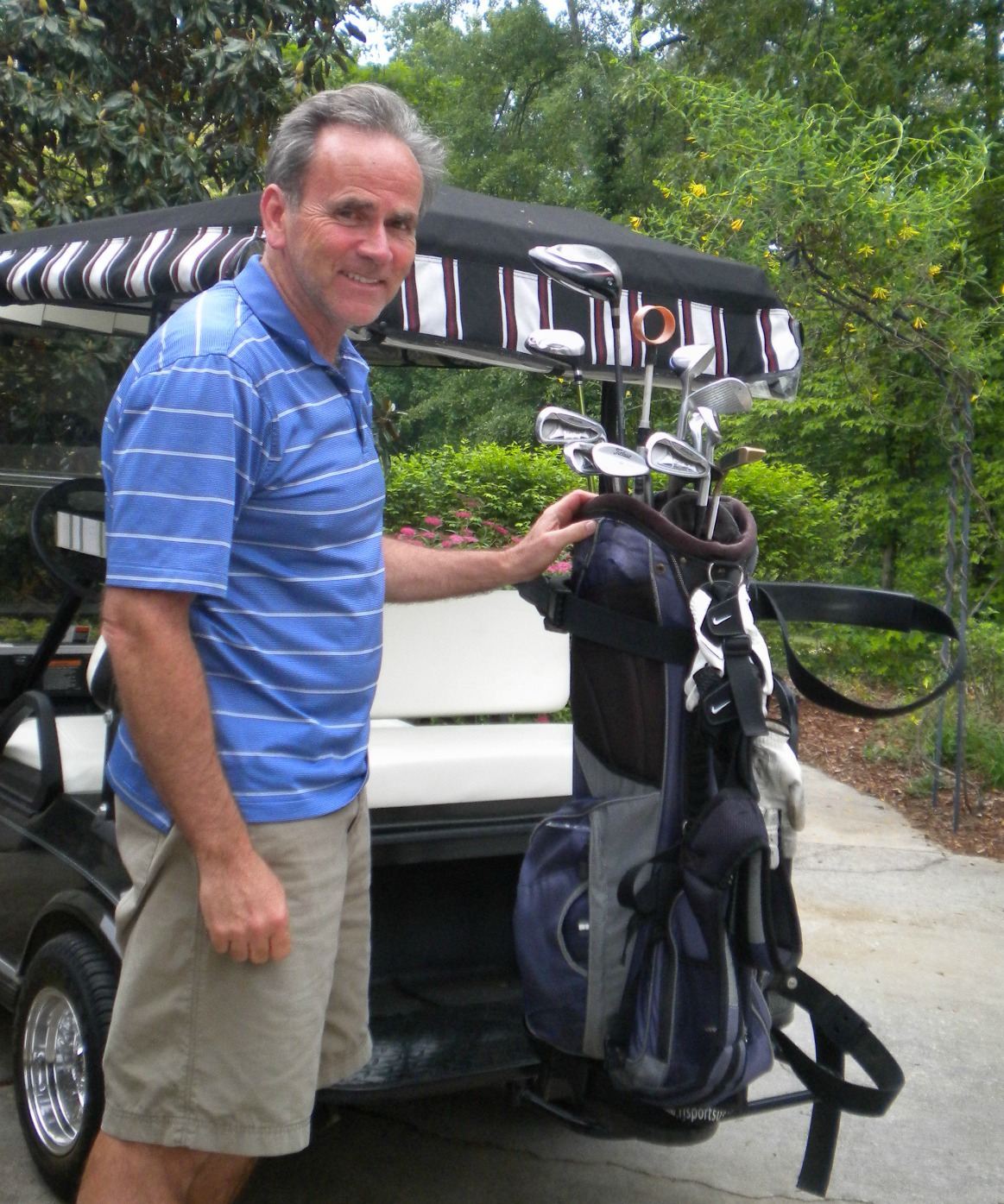 golf cart bag rack