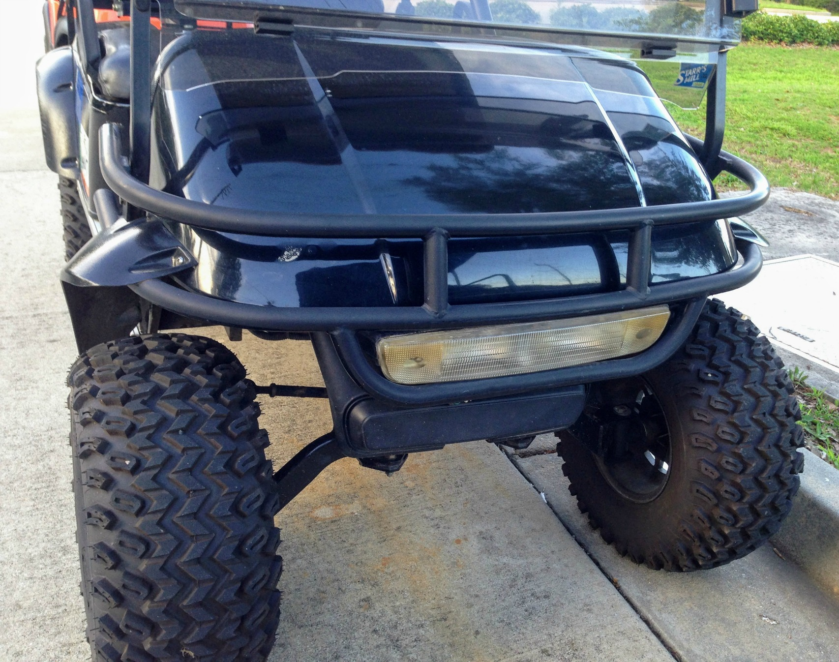 custom lifted golf cart