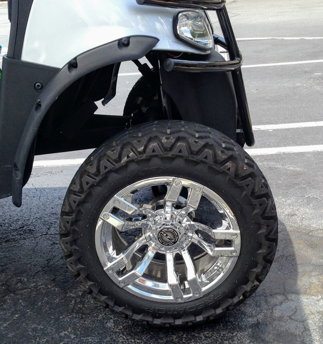 customize your gas or electric golf cart with fender flares