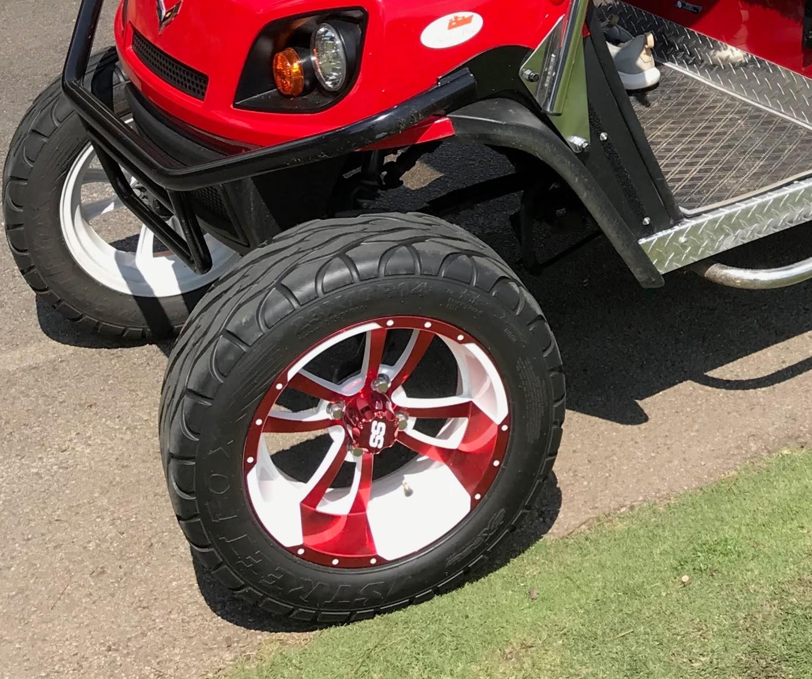 white golf cart tire