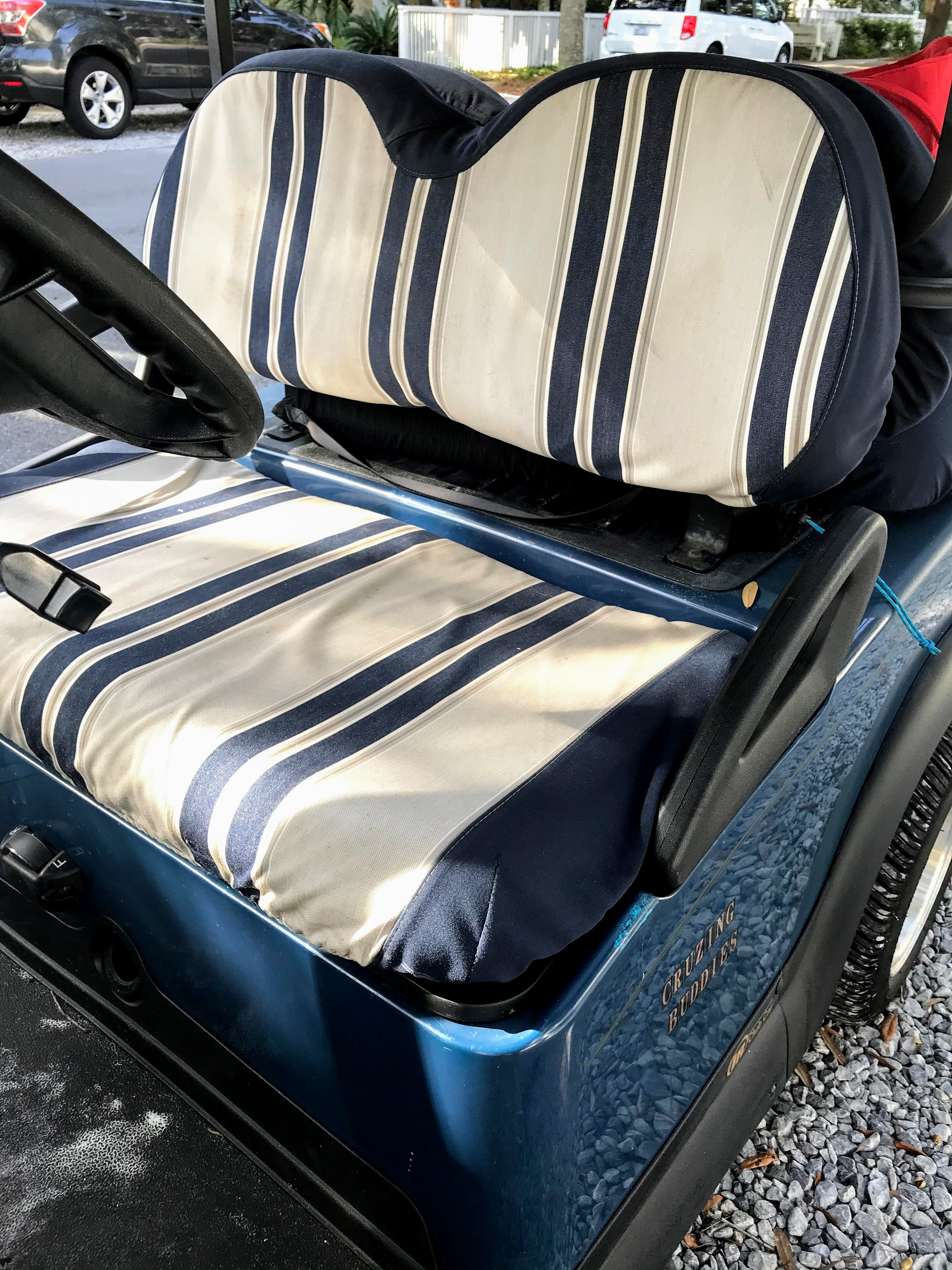 sunbrella golf cart seat cover