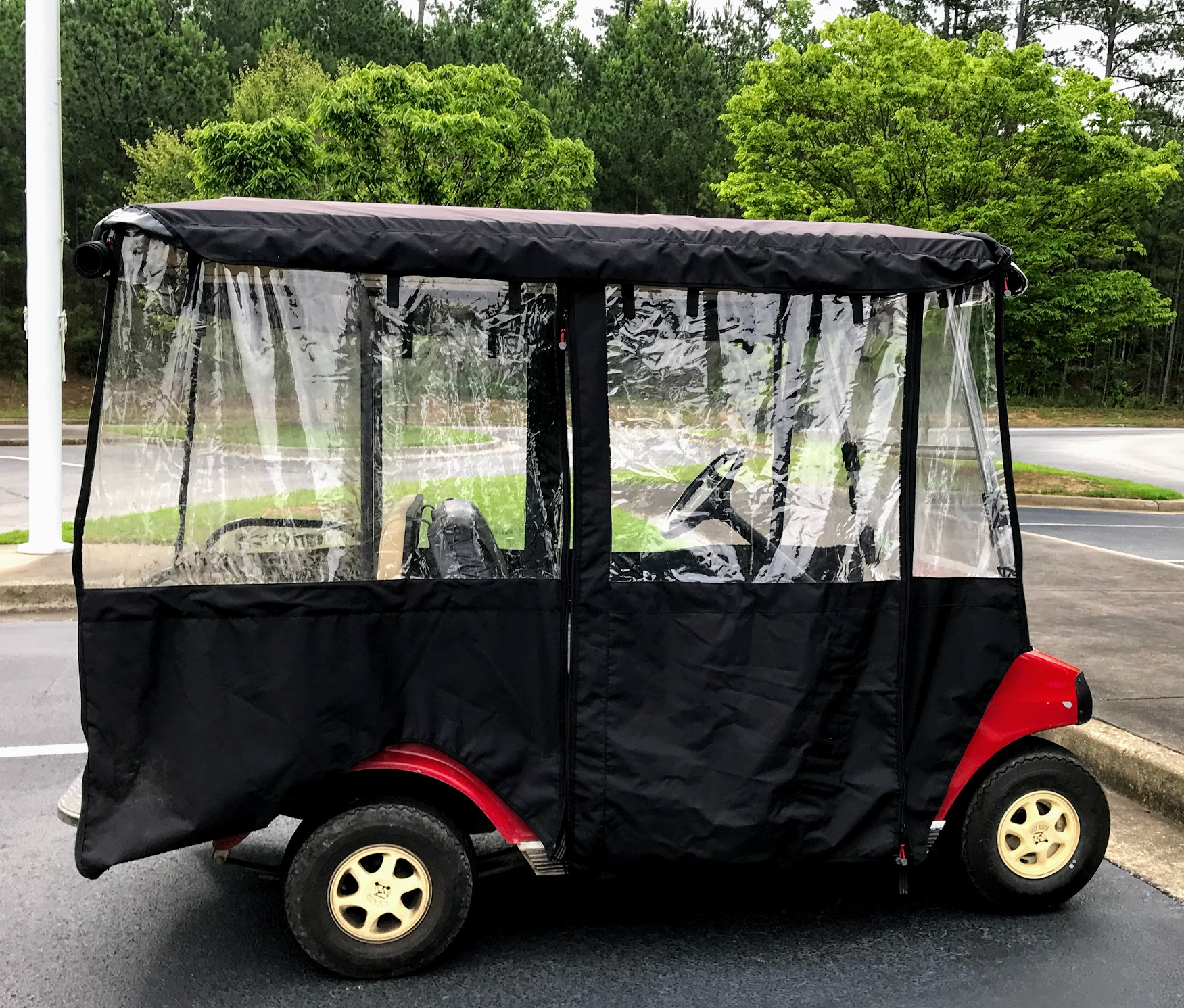 4 seat golf cart enclosure