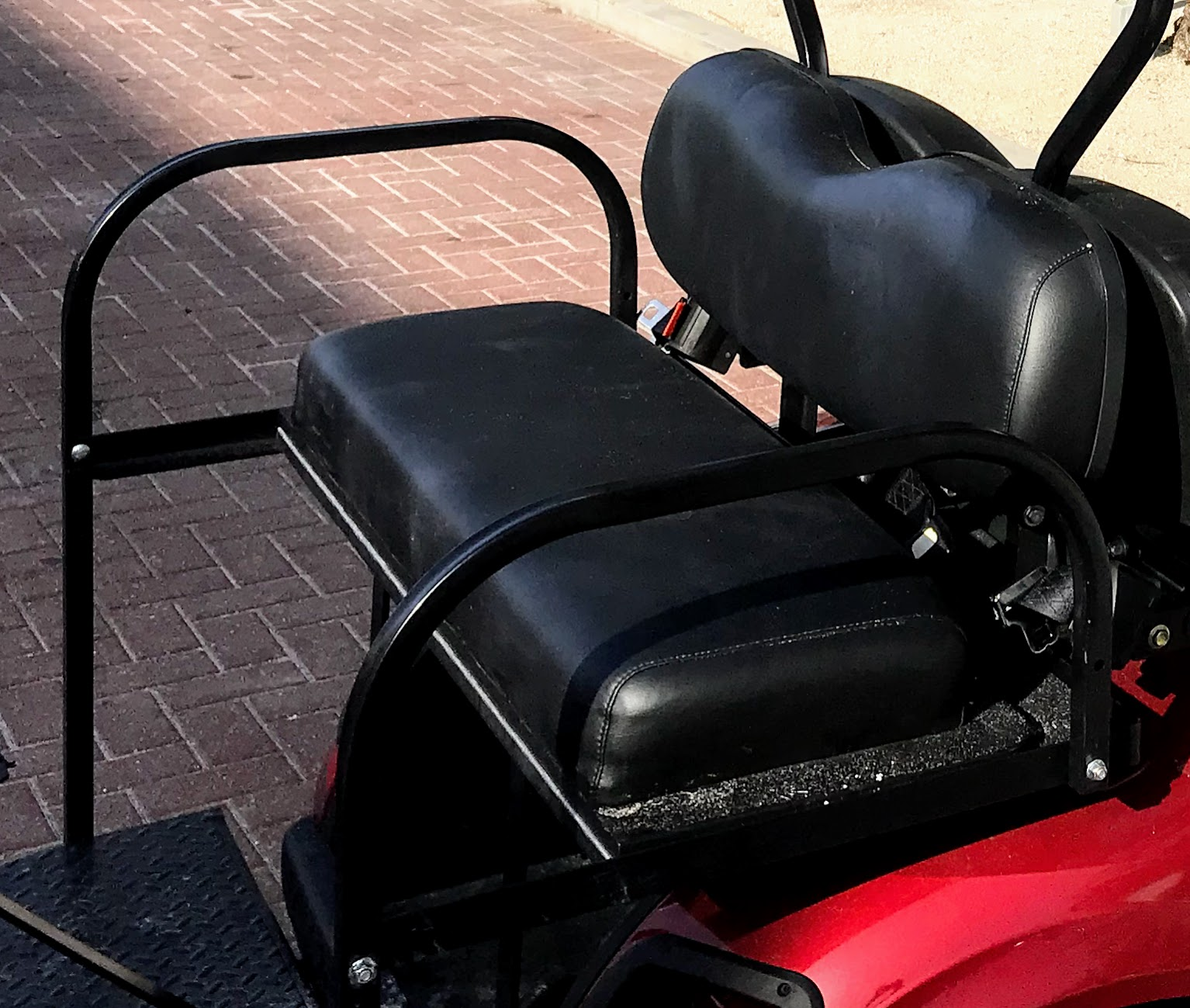 golf cart rear seats