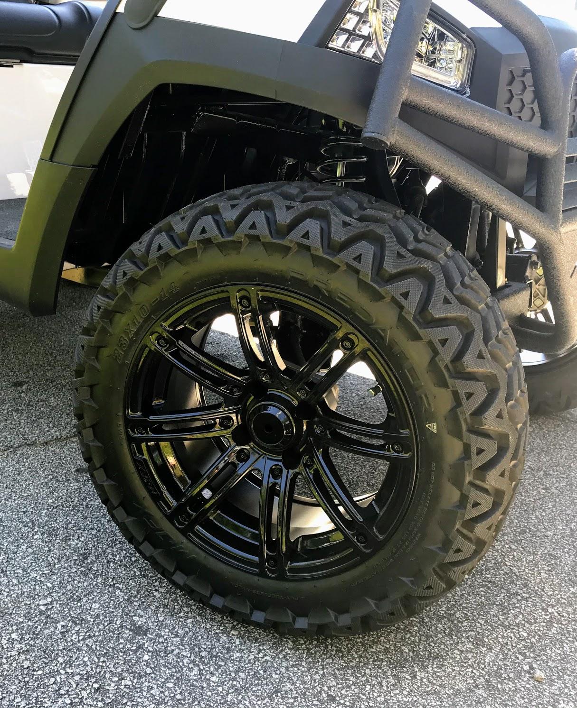 custom black golf cart wheels