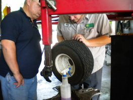changing a golf cart tire
