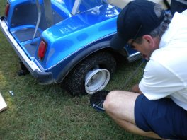 how to change a golf cart tire