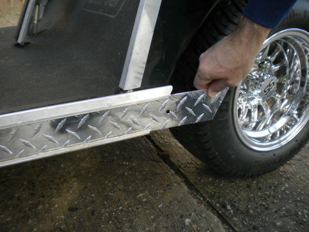 customized golf carts with diamond plate rocker panels
