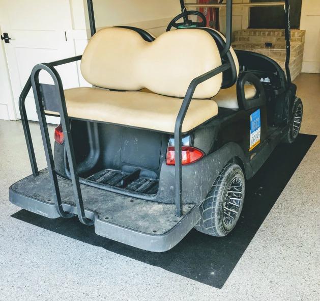 golf cart garage mat