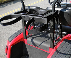 golf bag rack for golf cart