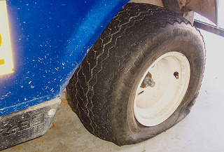 golf cart tire flat