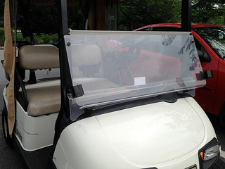 flip down golf cart windshield