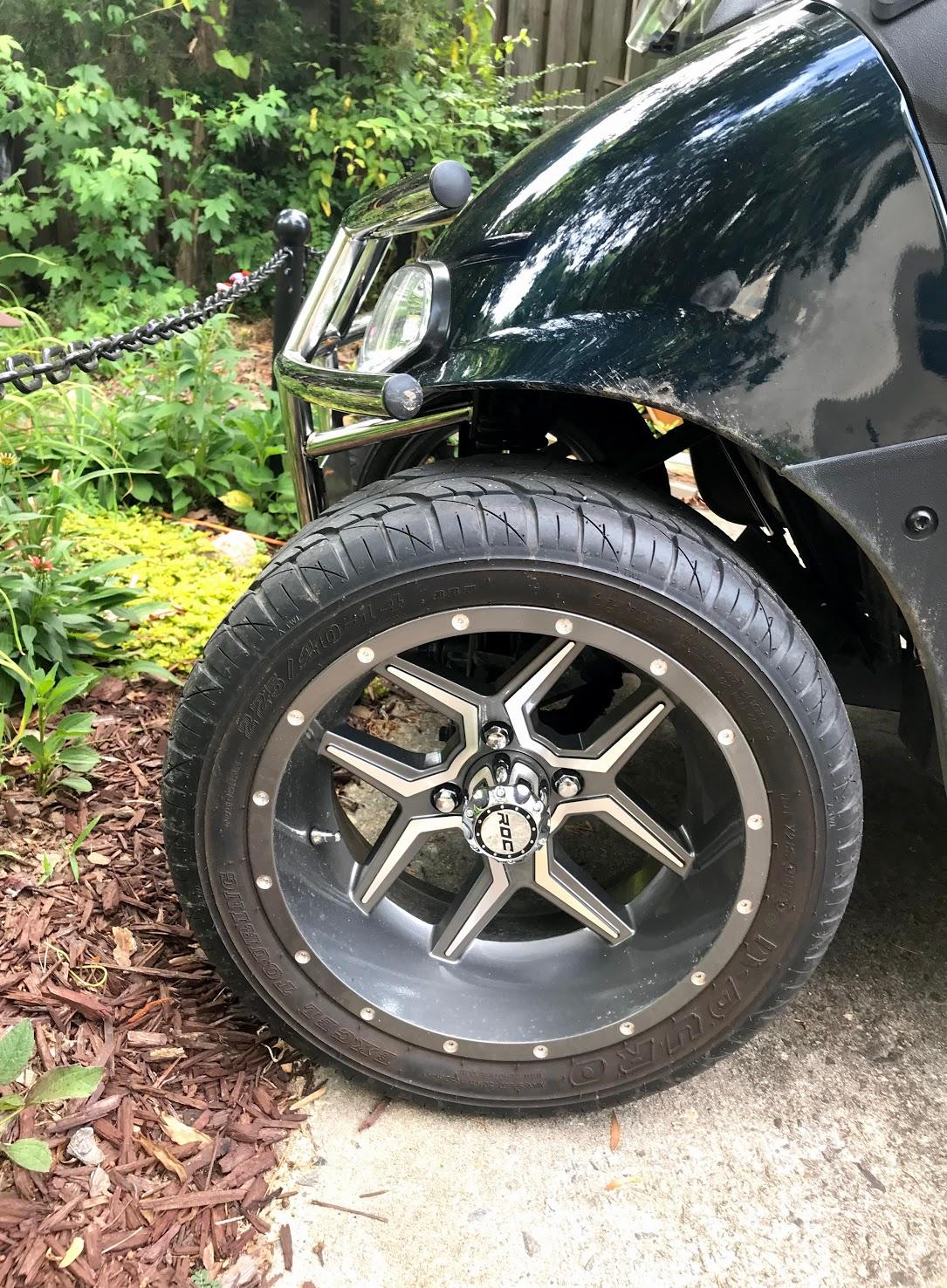 custom golf cart wheels and tires