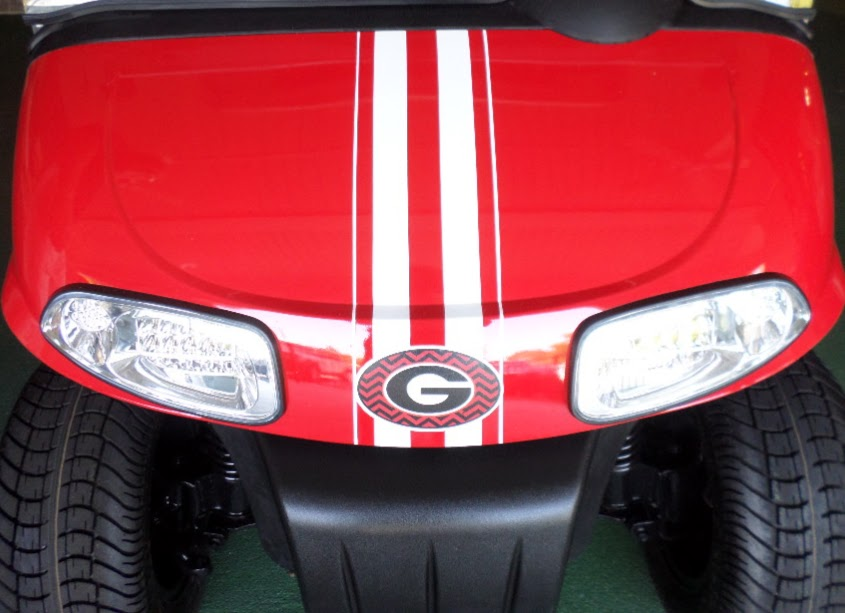 racing stripe golf cart decals