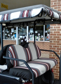 sunbrella golf cart seat covers