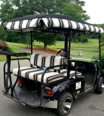 sunbrella golf cart seat cover
