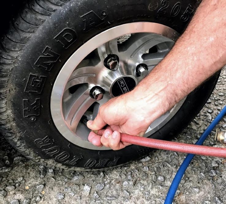 maintaining golf cart tire air pressure