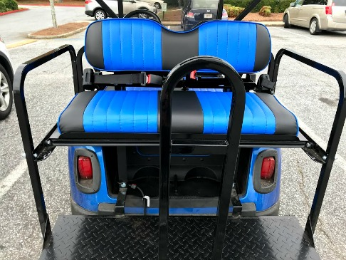 golf cart rear seat options