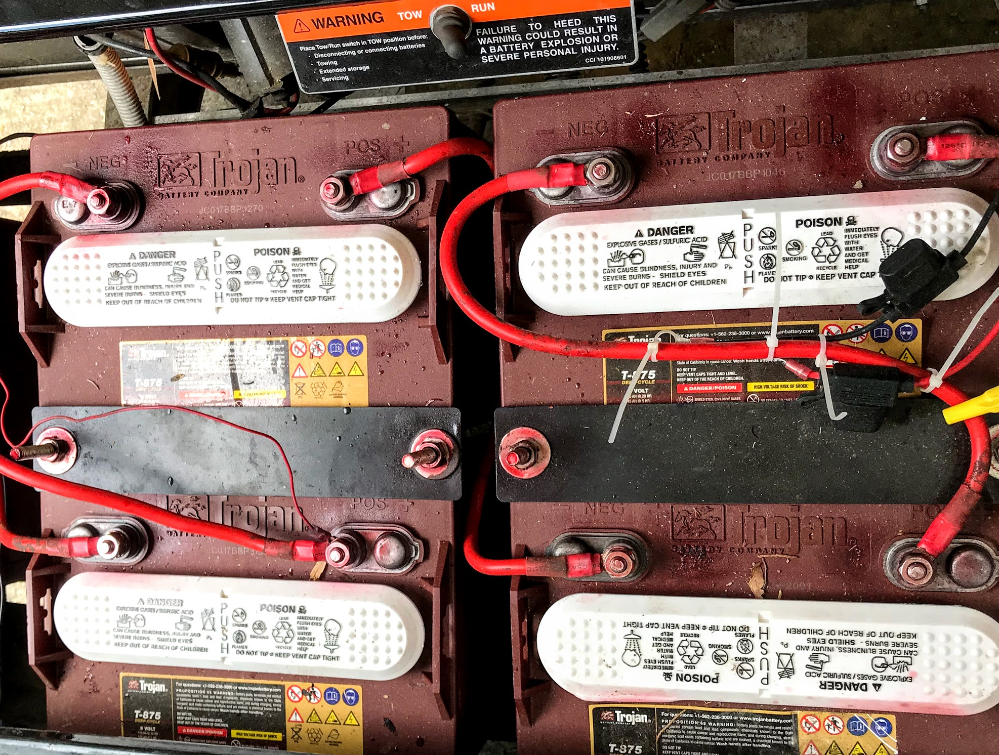 electric golf cart batteries winter storage tips