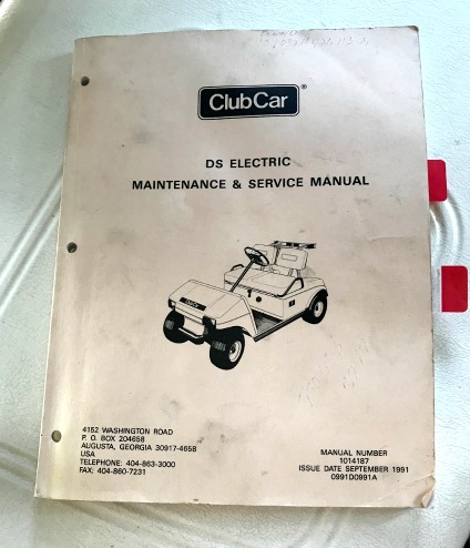 club car repair manual