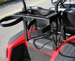 golf bag rack for golf cart
