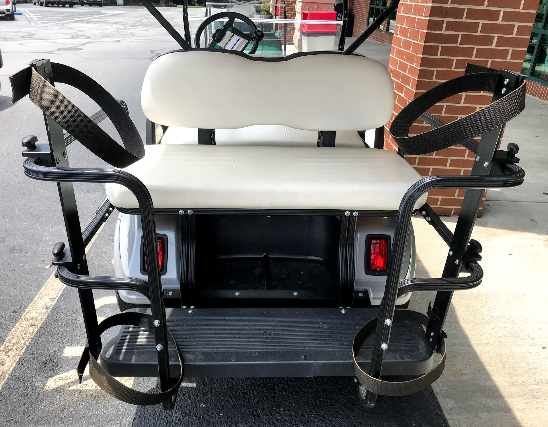 golf bag rack for 4 seat golf cart