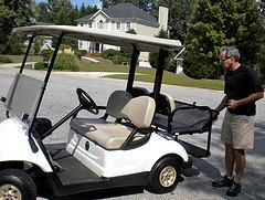 golf cart rear flip seat