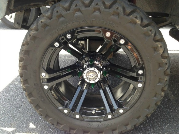 custom black golf cart wheels