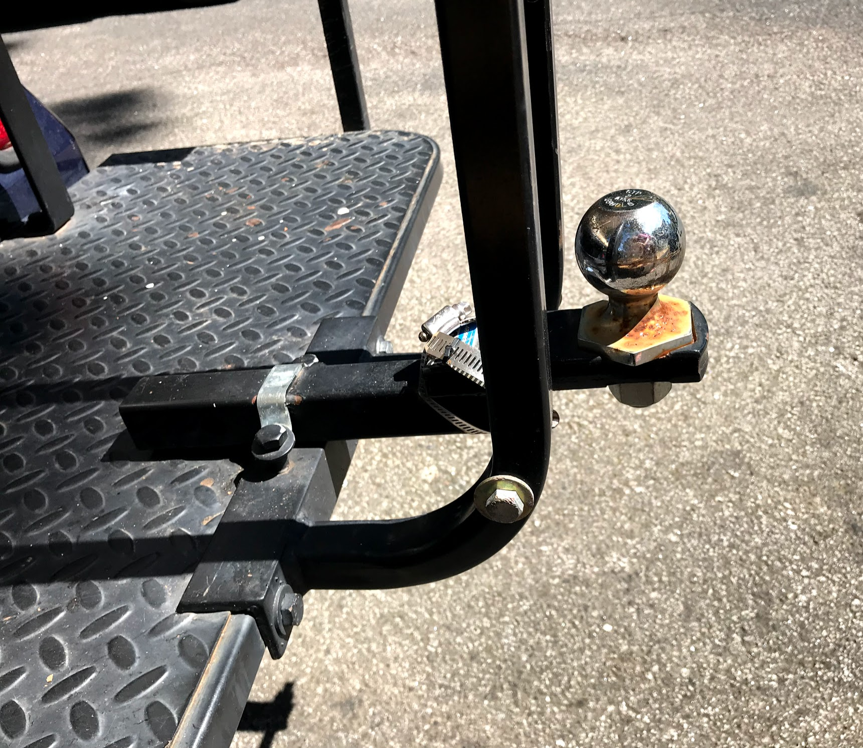 golf cart trailer hitch