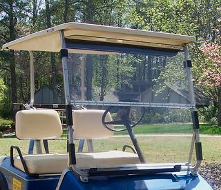 golf cart windshield hinge