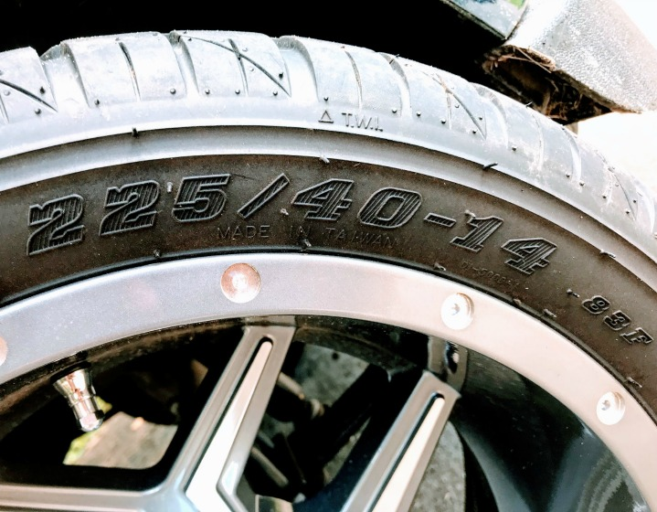 numbers on your golf cart tires