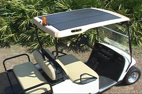 solar powered golf cart