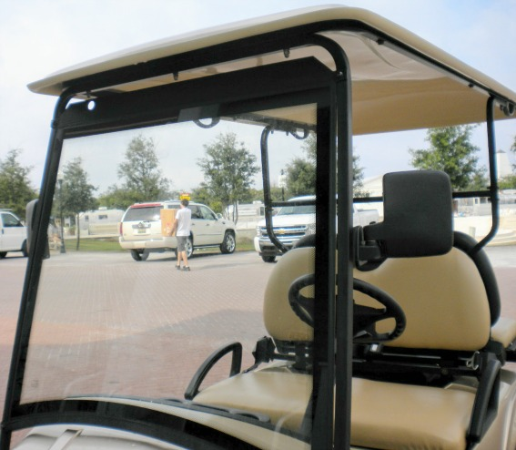 solid street legal golf cart windshield
