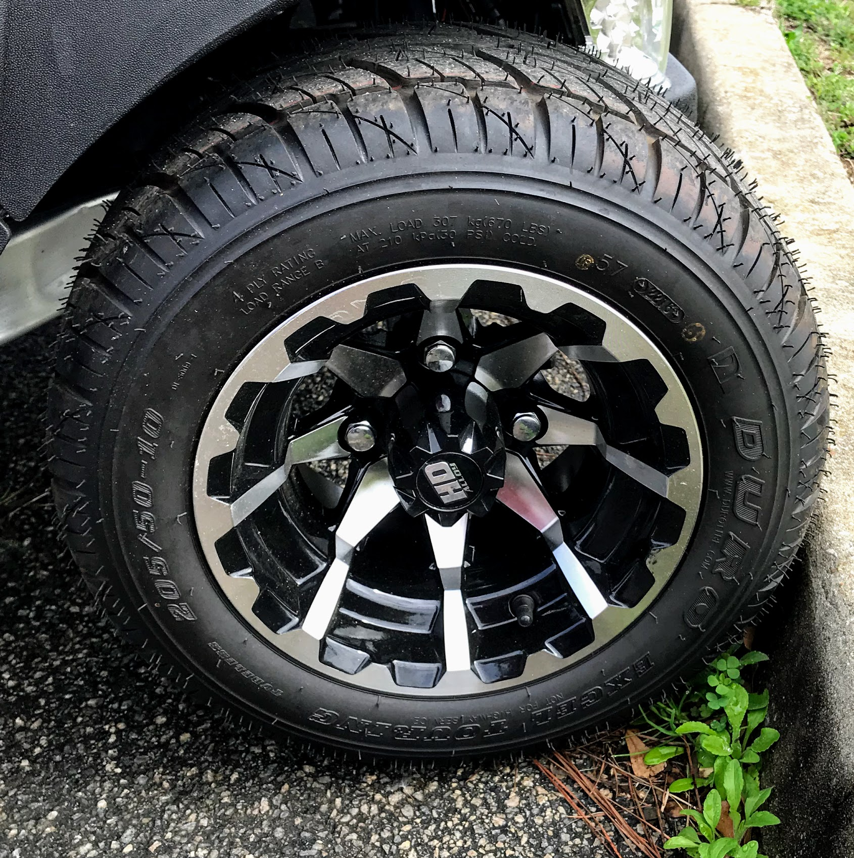 size guide to golf cart tires